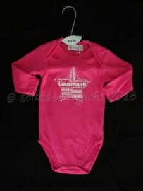 Body bedruckt Luusmaitli pink, Gr. 74/80