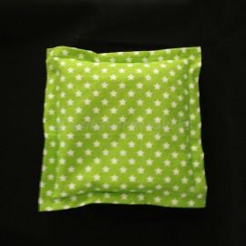 Kirschkernkissen, grün Sterne